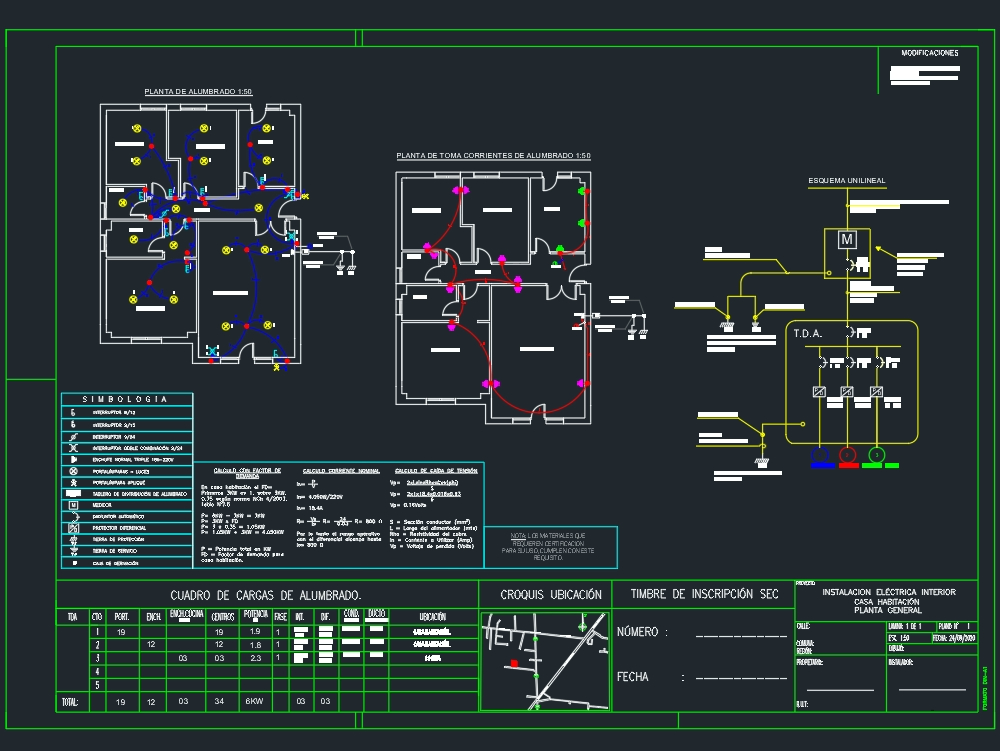 House electrical plan. chili