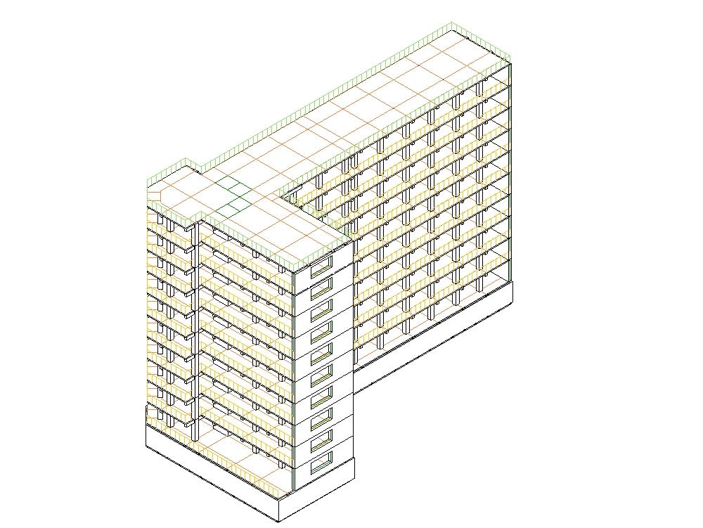 Edificio concreto armado de 15 pisos