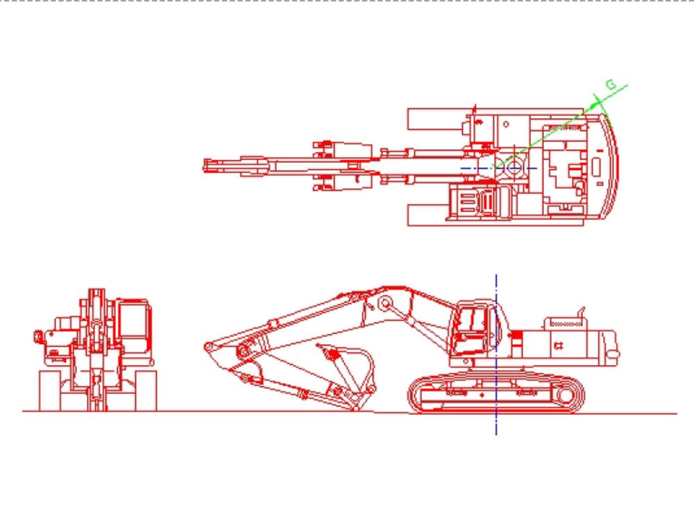 Modelo de excavadora komatsu pc-400