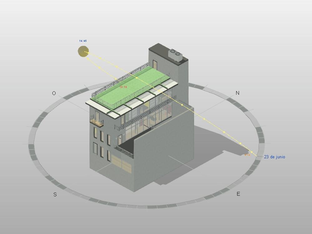 Edificio vivienda multifamiliar 3d