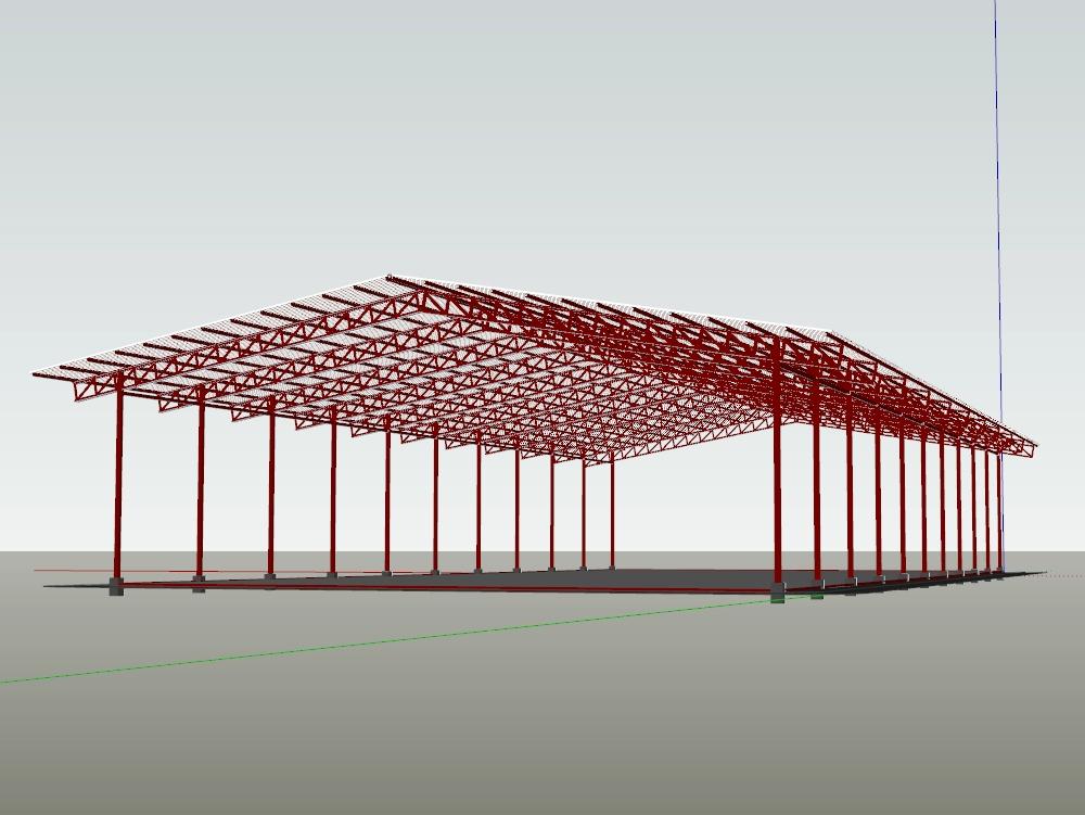 Polideportivo techado de uso multiple