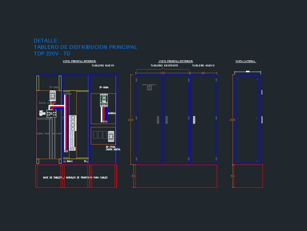 Main distribution electrical panel