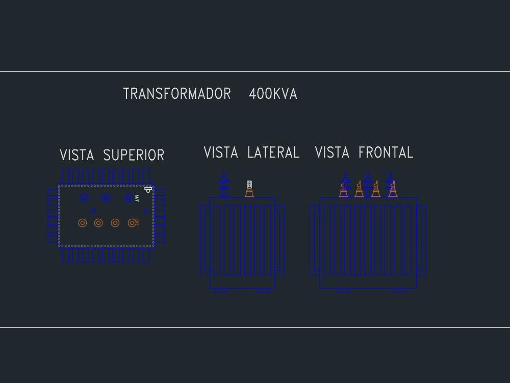 400kva three-phase substation type transformer