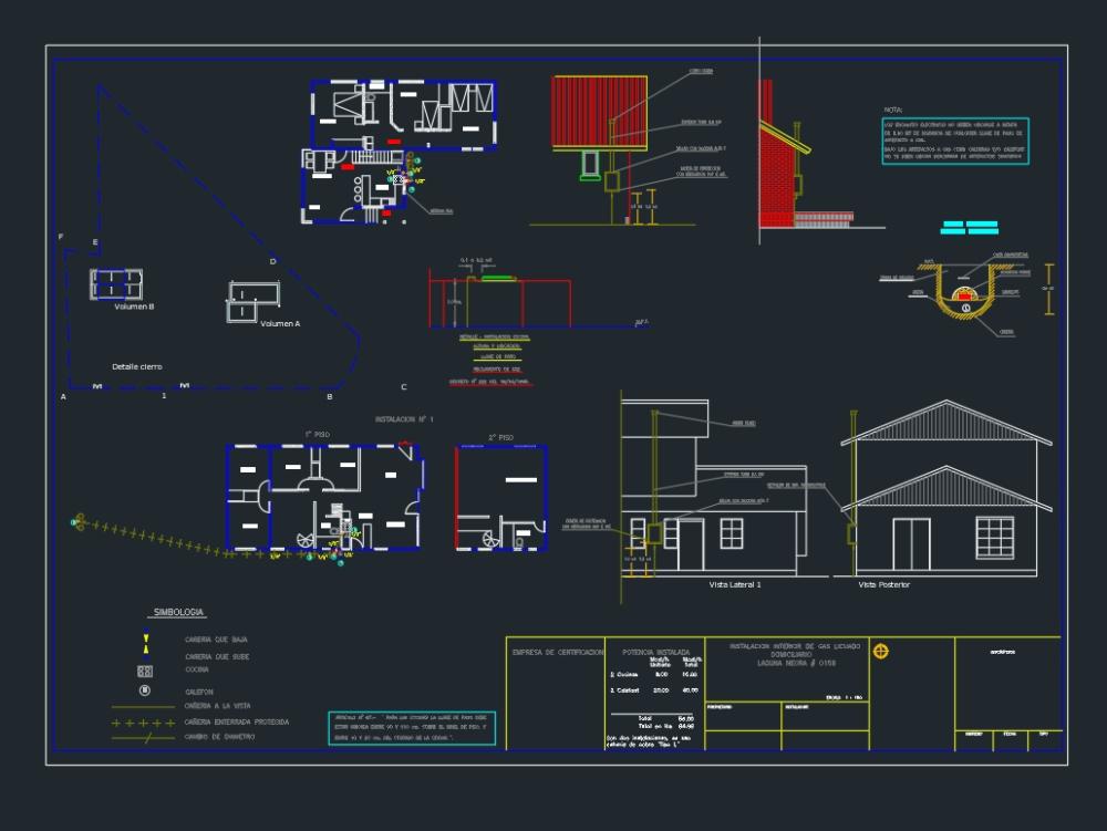 Plano de instalacion de gas natural
