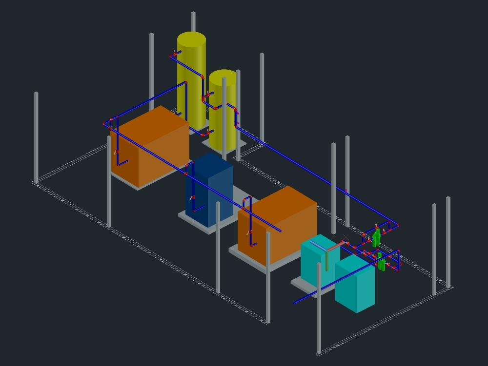 Compressor room in industry