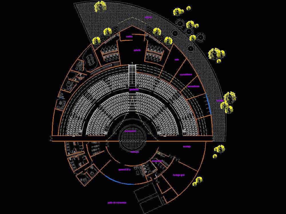 Anfiteatro para estudiantes de arquitectura.