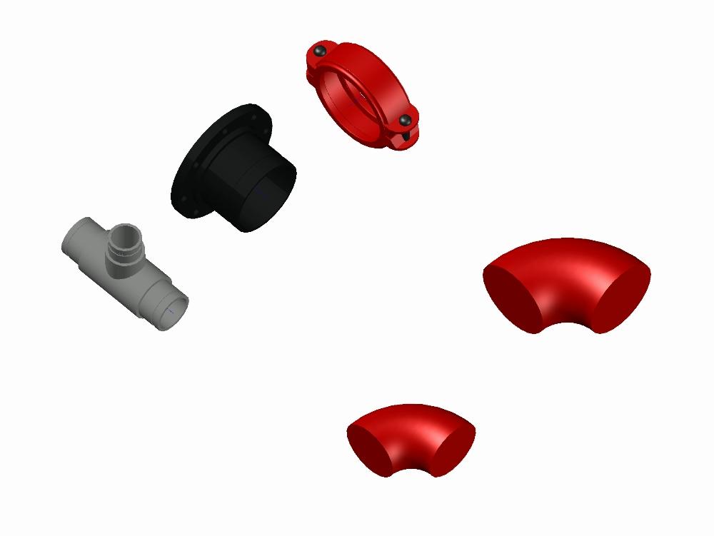 Piezas sanitarias tipo norma de 100mm de diametro