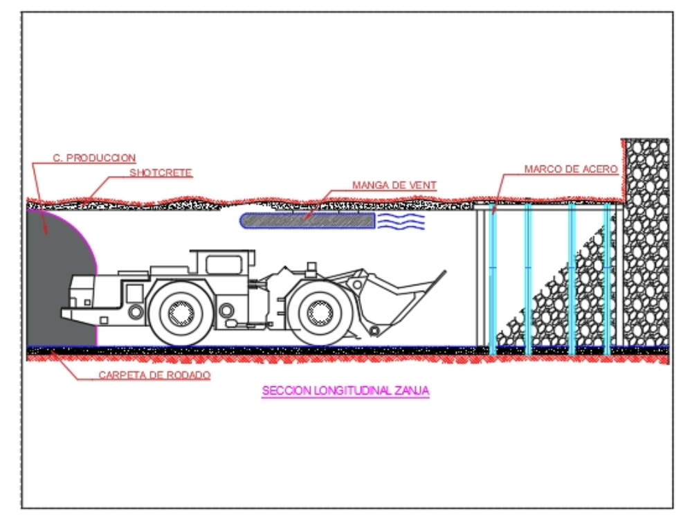 Extraction point cross section