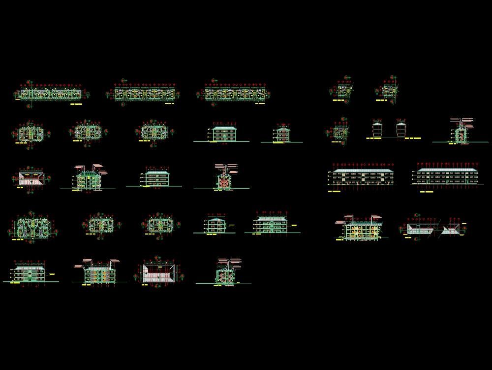 Medium income housing unit design.