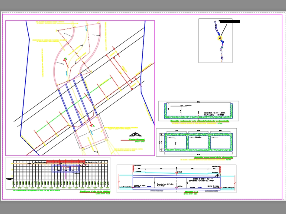 Project of a storm sewer