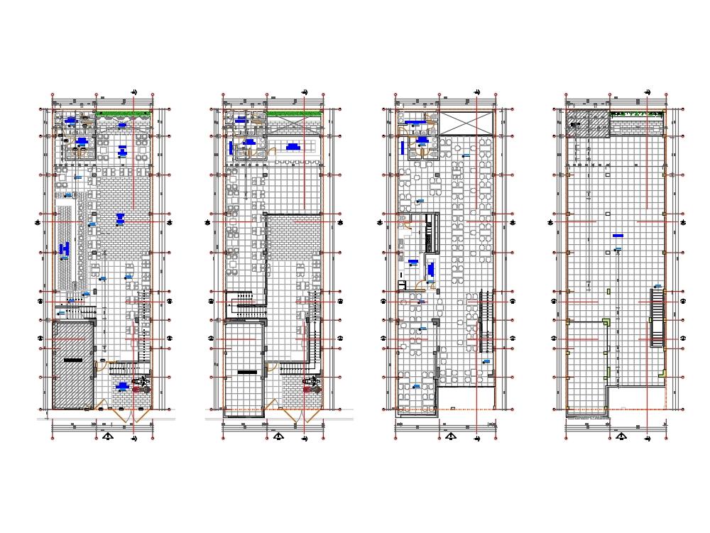 Plano de arquitectura discoteca restaurant