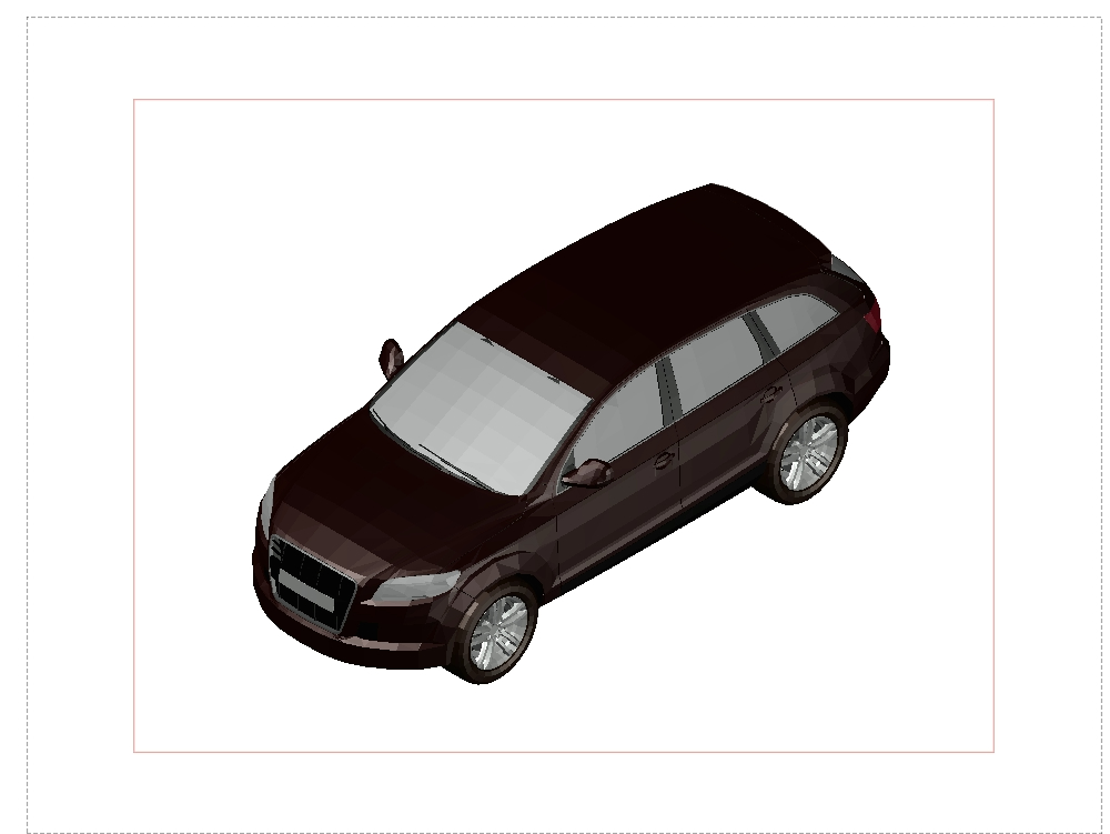 3d block of a red honda car