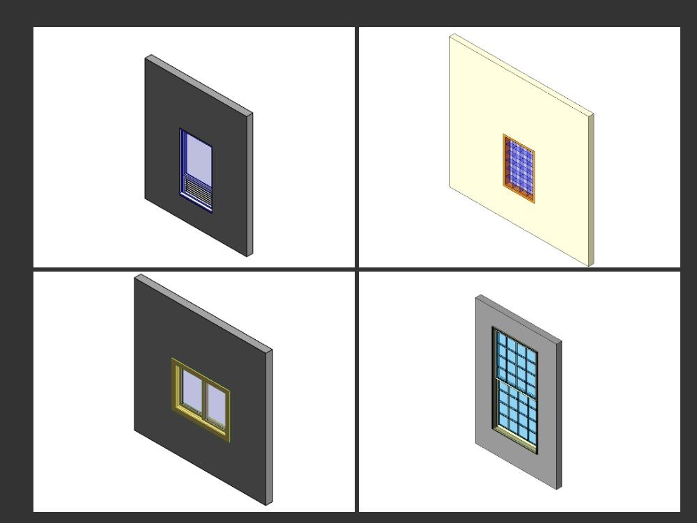 Ventanas para estructuras en formato revit