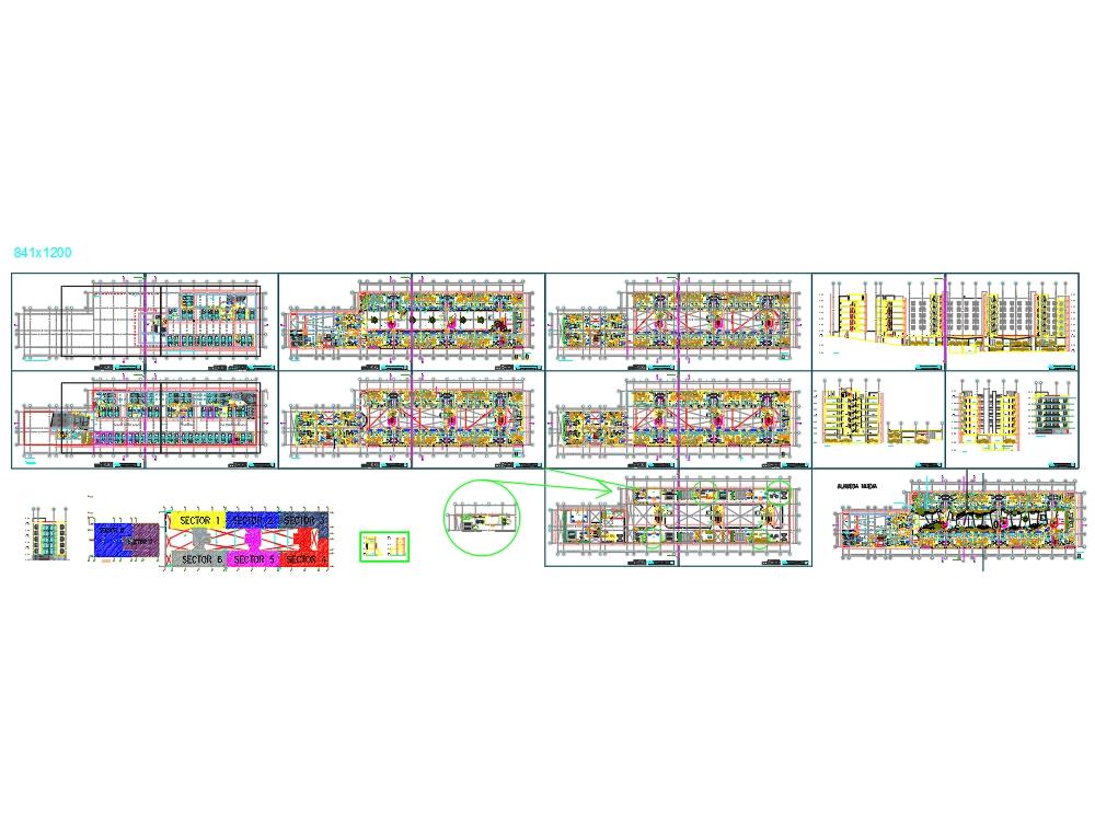 Proyecto multifamiliar rectagular