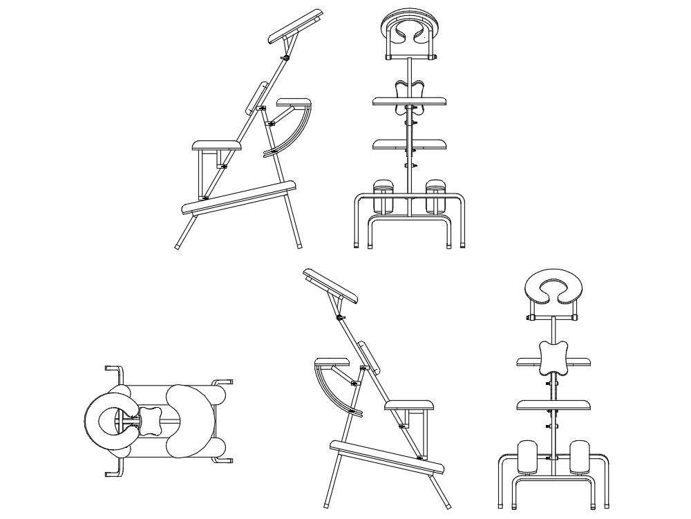 Metal shiatsu massage chair