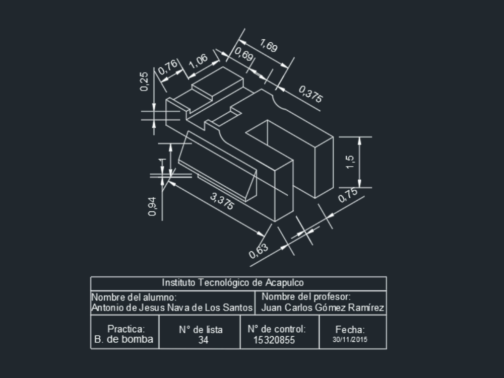 Pump base exercise in autocad