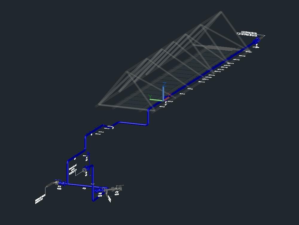 Construction platform exhaust circuit