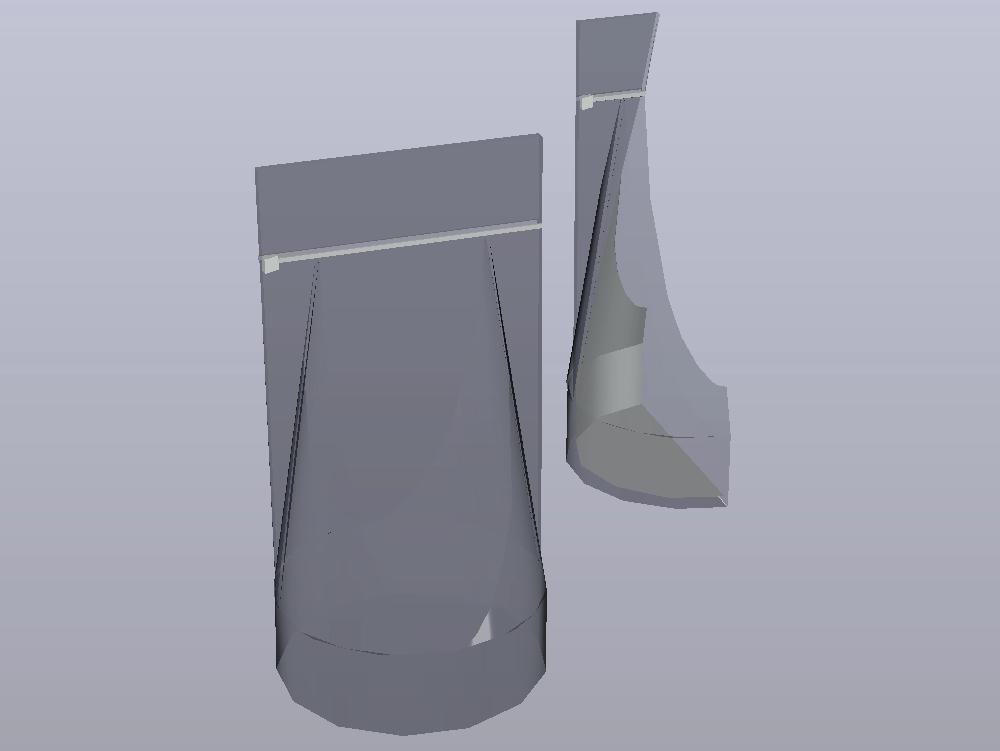 Zip bag (easy open) with 3d design