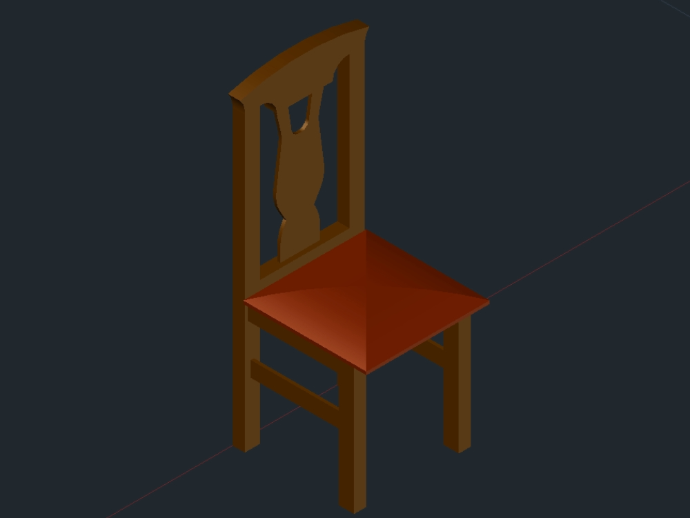 Wooden chair for dining table