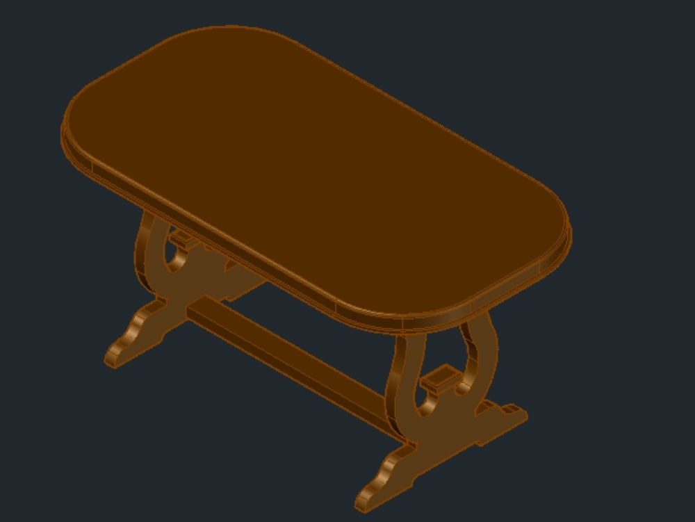 Wooden dining table for 6 chairs