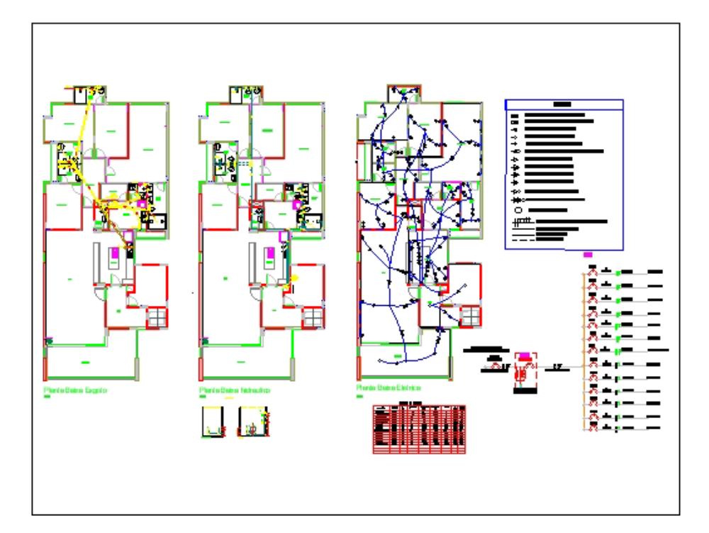 Apartamento diseño hidráulico y eléctrico.