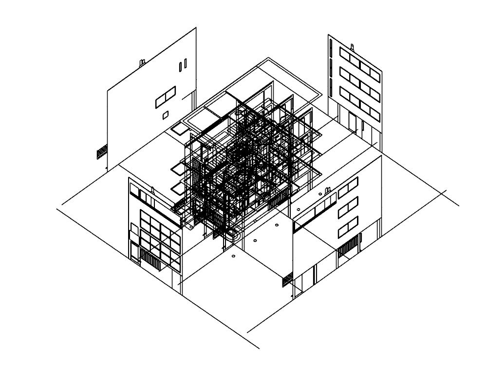Le corbusier paris - france citrohan house