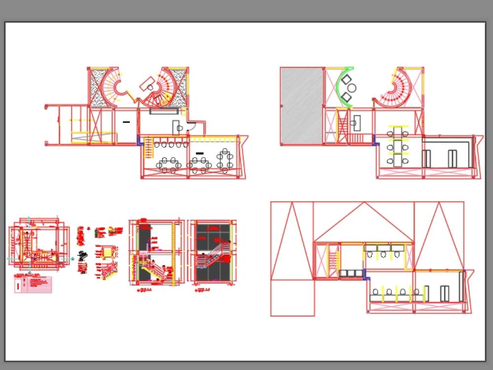 Detalle de escalera metàlica con pasos de madera