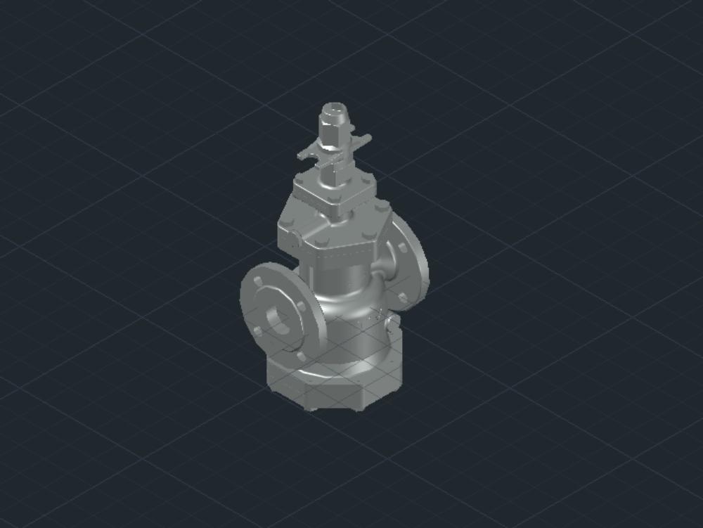 Pressure regulating valve for steam