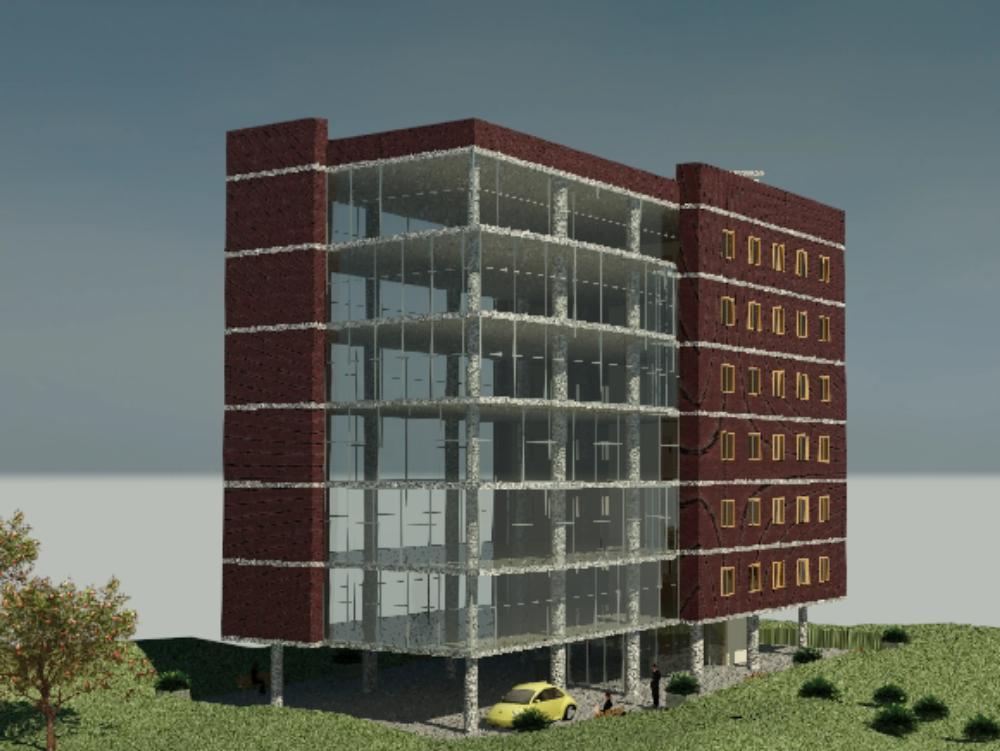 Edificio arquitectónico de 12 niveles