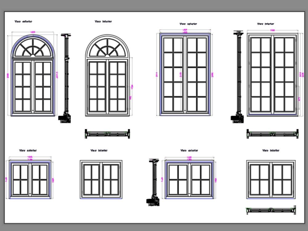 puertas y ventanas de metal
