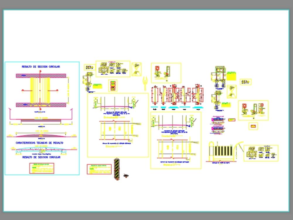 Plano detalle de señalización  vial