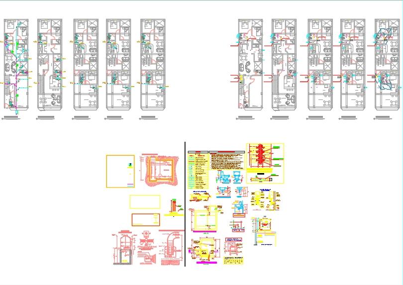 Instalaciones de un edificio de departamentos