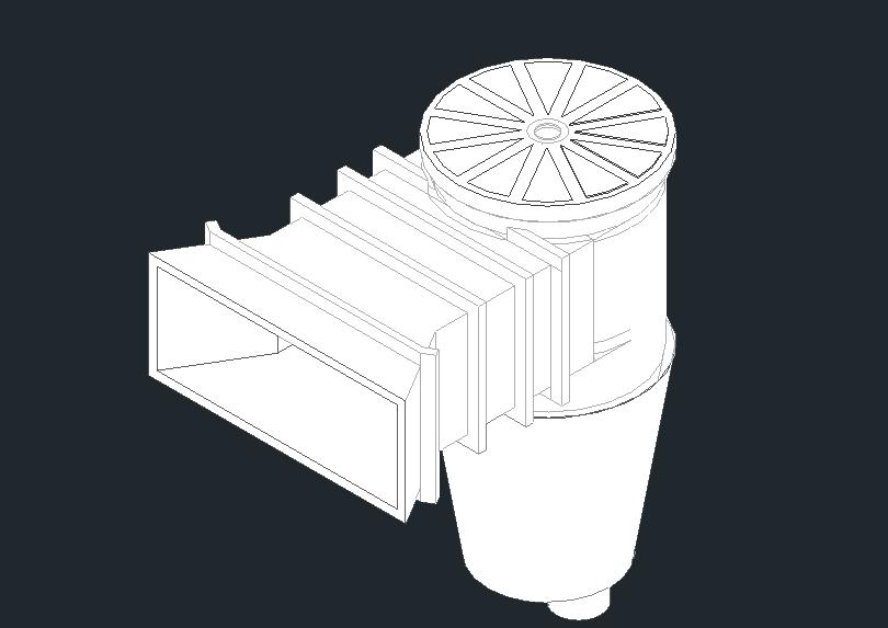 Skimmer or skimmer autocad block