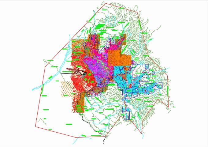 La paz topographic plan city levels