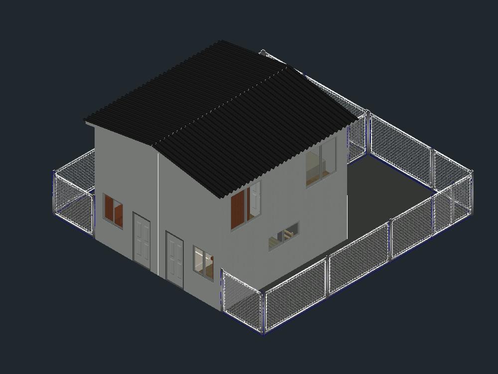 Casa para proyecto de plan de vivienda.