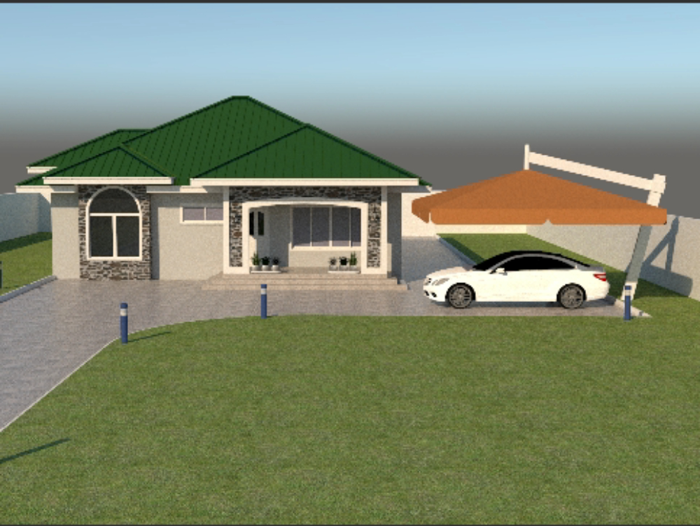 Two bedroom bongalow sketchup model