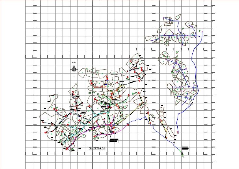Sprinkler irrigation system distribution network