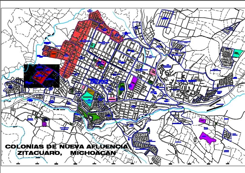 Zitacuaro michoacan map marked scale