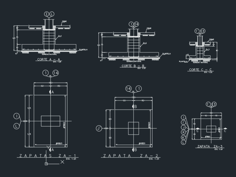 Foundation shoes dwg format