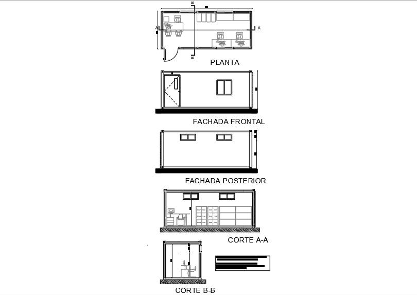 Surveillance room; with desks