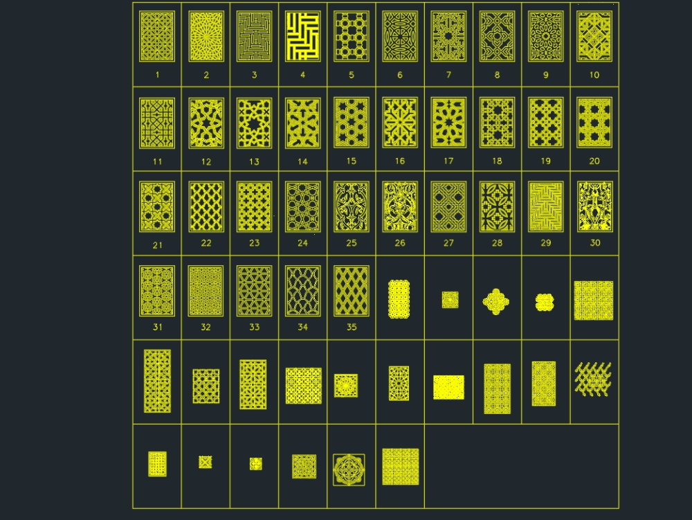 Patterns of islamic art needed for drawings
