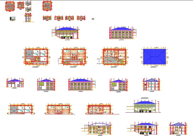Diseño de pabellón centro educativo