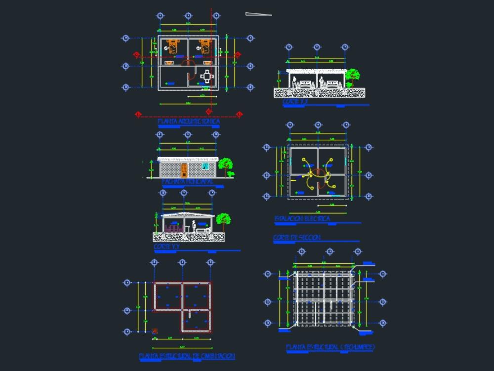 Design plans of an economic home