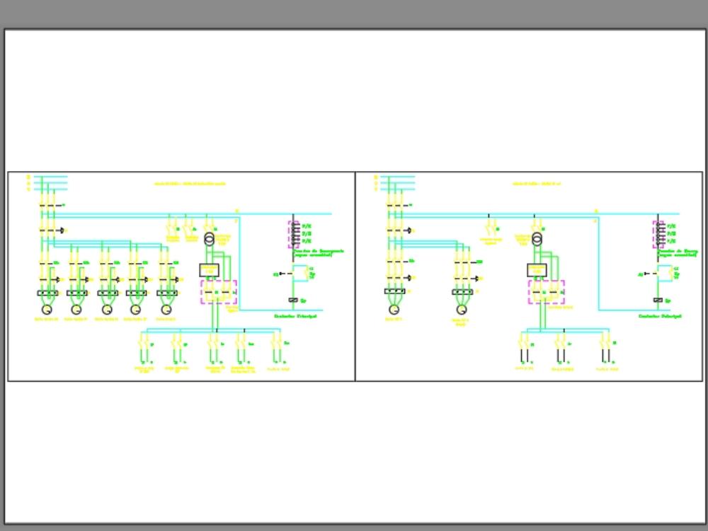 Diagrama unifilar de insltaciones electricas