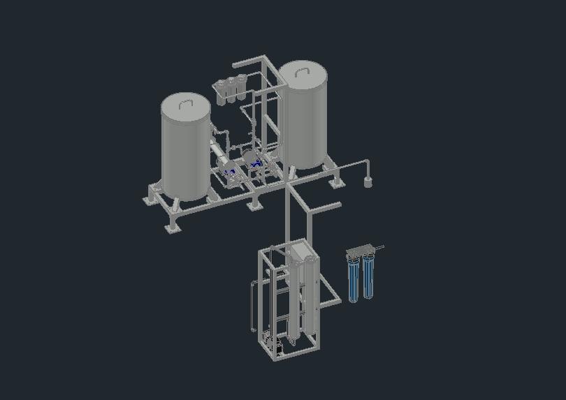 Máquina desaladora de agua para aprovechamiento de agua de mar.