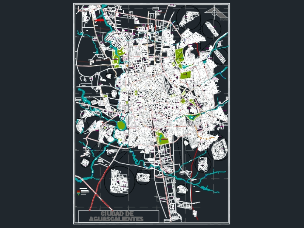 Plano catastro ciudad aguas calientes