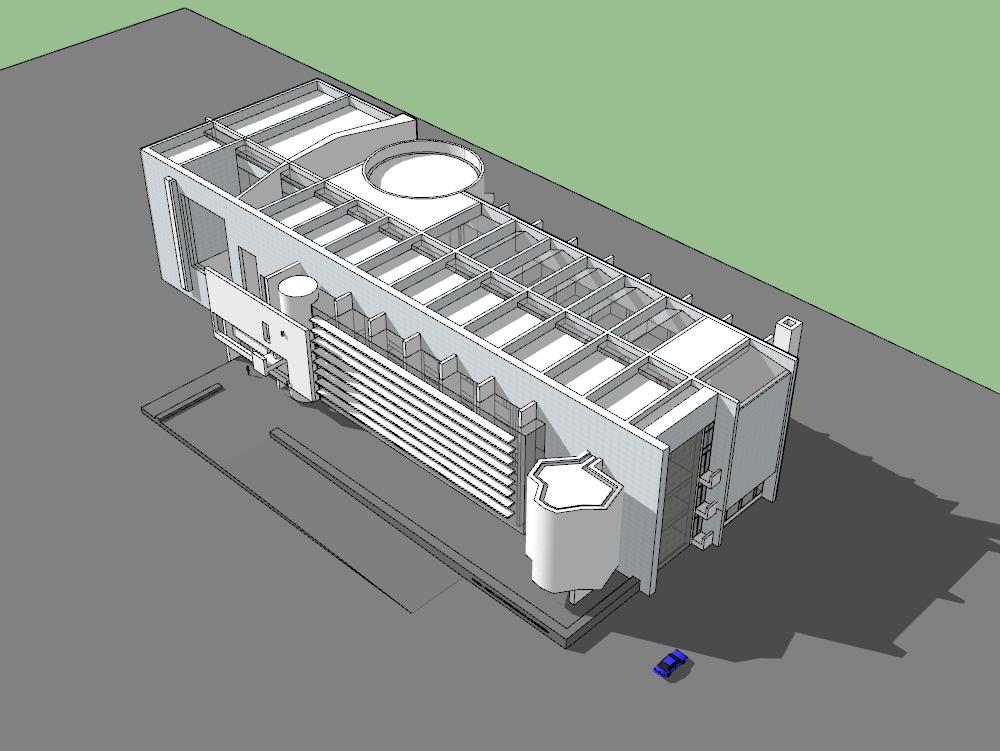 Macba 3d model of this international museum