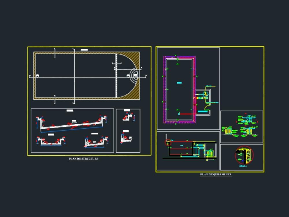 Swimming pool construction plan