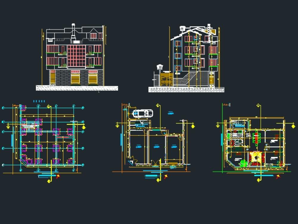Edificio multifamiliar de 3 plantas