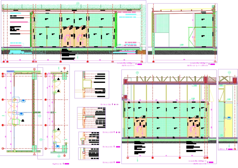 Acma mesh closure detail - door details